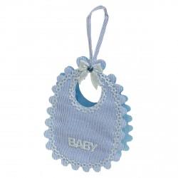 Babero baby azul